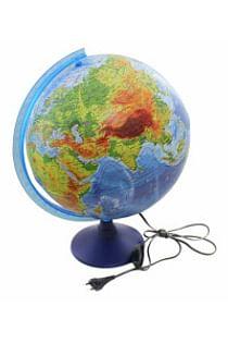 Глобус Земли физико-политический с подсветкой. Диаметр 320мм Артикул: 16895 Глобен Диаметр 320мм