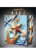 Пакет подарочный с глянцевой ламинацией 26,4х32,7х13,6 см (L) Морские обитатели, 157 г ПП-9128 Артикул: 70454 MILAND