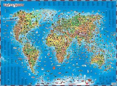 Карта мира для детей Артикул: 8250 АСТ .
