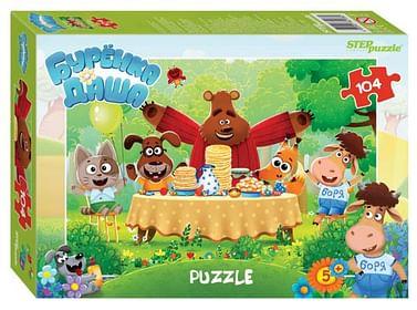 "Мозаика ""puzzle"" 104 ""Буренка Даша"" (Riki) Артикул: 80561 STEPpazzle"