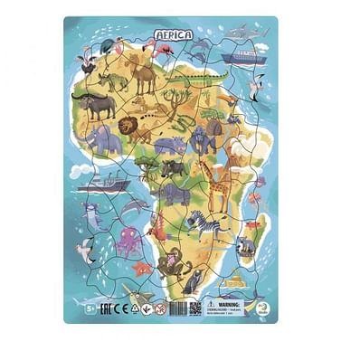 """Пазл в рамке """"Африка"""" 53 элемента Артикул: 70347 Я РАСТУ ТОЙЗ ООО"""