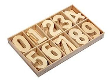 """Дерев. игрушка. Набор для счета. Касса цифр 60 дет. """"ВЕСЕЛЫЙ СЧЕТ-5"""" (дер.,неокраш.) (Арт. ИД-0057) Артикул: 55400 Рыжий кот"""