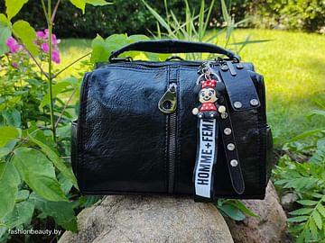 Женская сумка-трансформер из натуральной кожи модель 445 (черный)