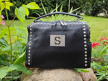 Женская сумка-трансформер из натуральной кожи модель 446 (черный)