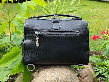 Женская сумка-трансформер из натуральной кожи модель 447 (черный)