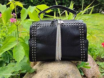 Женская сумка-трансформер из натуральной кожи модель 448 (черный)