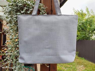 Сумка-шоппер модель 454/1 (серый меланж)