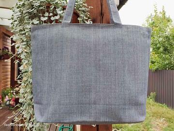 Сумка-шоппер модель 454/2 (серый меланж)