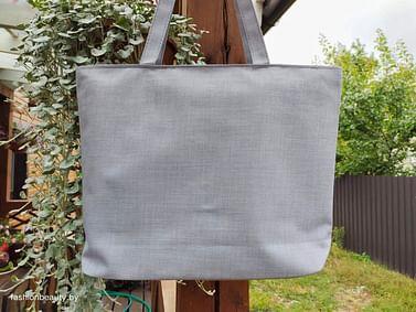 Сумка-шоппер модель 454/6 (серый меланж)