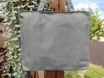 Сумка-шоппер модель 454/9 (серый меланж)