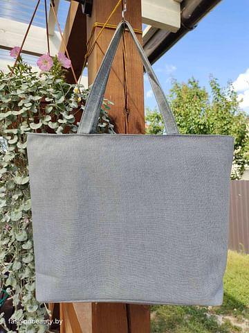 Сумка-шоппер модель 454/10 (серый меланж)