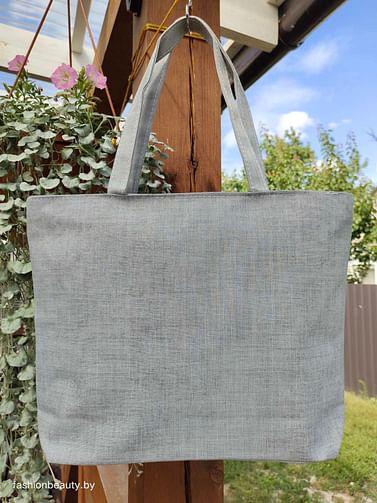 Сумка-шоппер модель 454/11 (серый меланж)