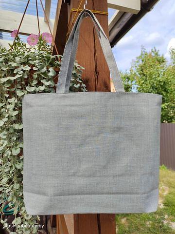 Сумка-шоппер модель 454/13 (серый меланж)