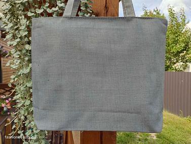 Сумка-шоппер модель 454/14 (серый меланж)