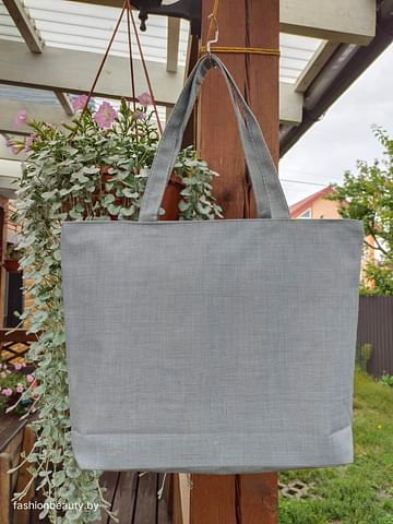 Сумка-шоппер модель 454/16 (серый меланж)
