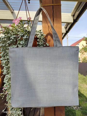 Сумка-шоппер модель 454/24 (серый меланж)