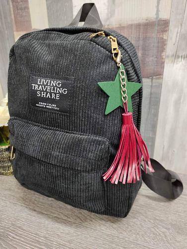 Рюкзак женский вельветовый модель 381 (черный)