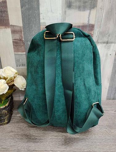 Рюкзак женский вельветовый модель 381 (изумруд)