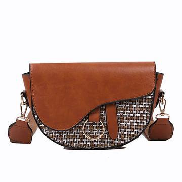 Сумка женская saddle bag модель 482 (карамель)