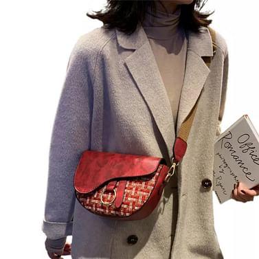 Сумка женская saddle bag модель 482 (бордовый)