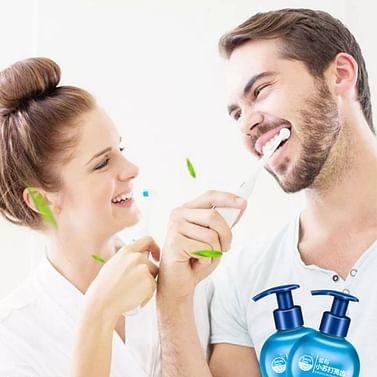 Гелевая отбеливающая зубная паста со вкусом черники / гель-паста отбеливающая / , 200 гр. IMAGES
