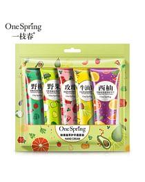 Набор парфюмированных кремов для рук, 5 шт х 30 гр One Sprinq