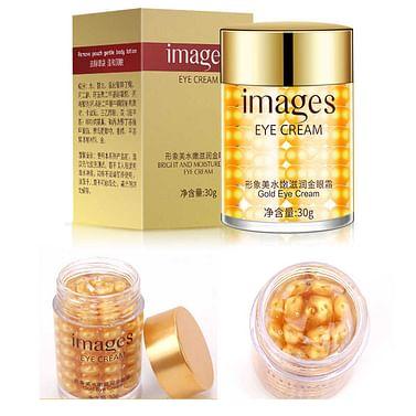 Крем- сыворотка для кожи вокруг глаз против мимических морщин с золотыми шариками IMAGES