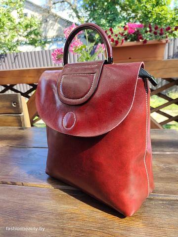 Рюкзак из натуральной кожи модель 00059 (бордо)