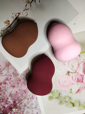 Beauty Powder Puff спонжик для нанесения тональных средств ( бордовый) IMAGES