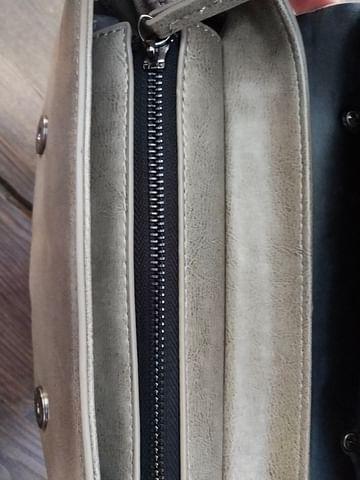 Сумка женская из натуральной кожи модель 00127 (серый)