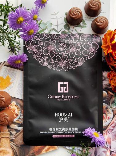 Увлажняющая тканевая маска для лица с экстрактом цветков сакуры, cherry blossoms HOUMAI