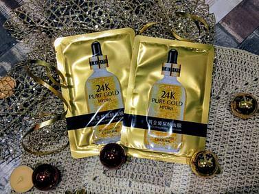 Питательная тканевая маска для лица 24K с гиалуроновой кислотой и золотом CINDYNAL