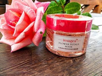 Питательная маска для лица с лепестками и маслом розы 120 гр IMAGES