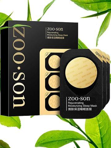 Ночная омолаживающая и выравнивающая тон маска с экстрактами зеленого чая и алоэ вера.Набор для комплексного ухода 8 саше. ZooSon