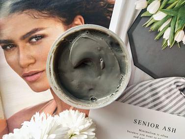 Маска для лица пузырьковая очищающая Bubbles Facial Mask, с коллагеном и вулканической глиной Senana