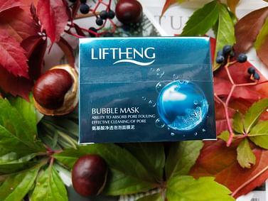 Маска для лица Bubble Mask очищающая пузырьковая, с аминокислотами шелка, 100г LIFTHENG