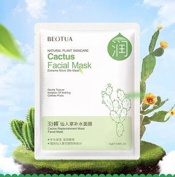 Увлажняющая маска для лица с экстрактом кактуса, 25 гр. Beotua