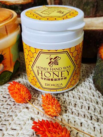 Парафиновая маска для рук Honey hand wax с экстрактом меда и розы, 170g Bioaqua
