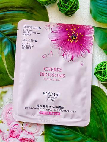 Маска для лица тканевая увлажняющая с экстрактом вишни HOUMAI