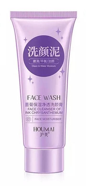 Пенка для умывания Face Wash Ink Chrysanthemum с экстрактом хризантемы HOUMAI