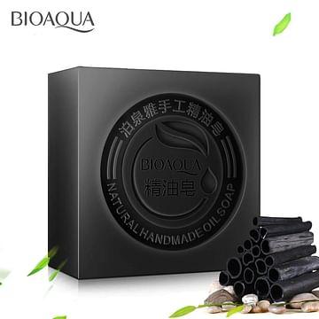 Мыло с бамбуковым углем ручной работы ,100 гр. Bioaqua