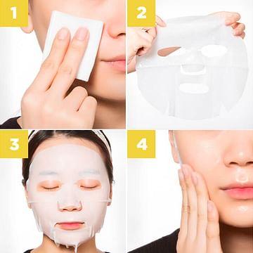 Многоразовая маска-салфетка для лица с Пептидами в колбе Peptide Moisture (50мл) ZooSon