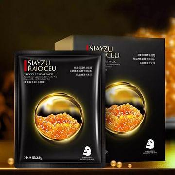 Тканевая маска для лица 24K CОLD CAVIAR MASK с золотом и черной икрой 25 гр SIAYZU RAIOCEU