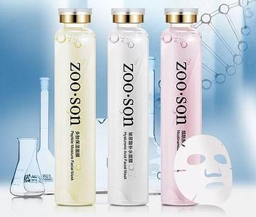 Многоразовая омолаживающая маска-салфетка для лица с пептидами и никотинамидом (50 мл.) ZooSon