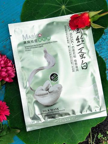 Тканевая маска с протеинами шелка для кожи,склонной к воспалениям One Sprinq