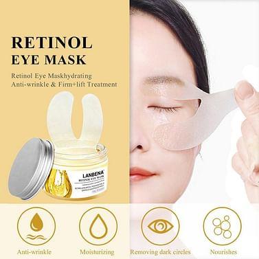 Антивозрастная маска-патчи для кожи вокруг глаз с ретинолом LANBENA