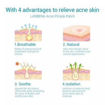 Лечебные патчи от акне, дневные 22 шт. / Acne treatment patches for day BREYLEE