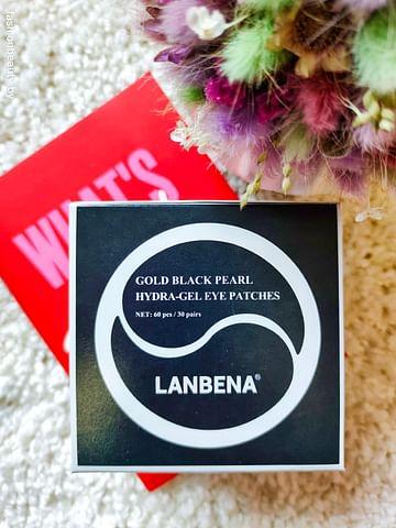 Гидрогелевые маска-патчи для глаз Золото и черный жемчуг LANBENA