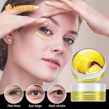 Патчи под глаза Retinol Eye Mask от морщин с ретинолом ,60 шт LANBENA