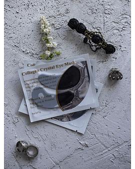 Гидрогелевые патчи для век с коллагеном и активированным углем Collagen Crystal Eye Mask, 1 пара LANBENA